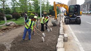 月牙岛公园增建一处公交站 方便月牙岛国际社区居民出行