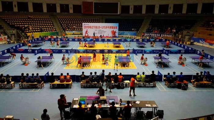辽宁省U9-U15乒乓球锦标赛在抚顺开拍   7岁娃不服输
