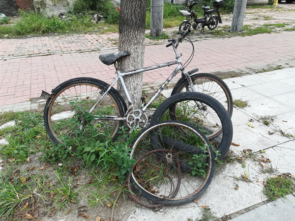 """占用公共空间  影响周边环境  """"僵尸""""自行车亟待清理整治"""