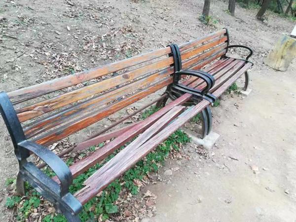 看不下去!景区休闲椅屡遭破坏 市民呼吁:请爱护公物