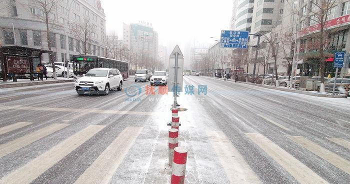 """抚顺这场阵雪下得挺正好 城市添""""冬味"""" 道路没啥事"""