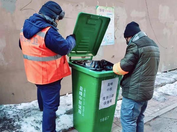 """新撫區:廢棄口罩專用垃圾桶""""上崗"""""""