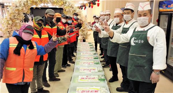 每天400份免费午餐 爱心餐企的关爱让环卫工人们暖胃更暖心