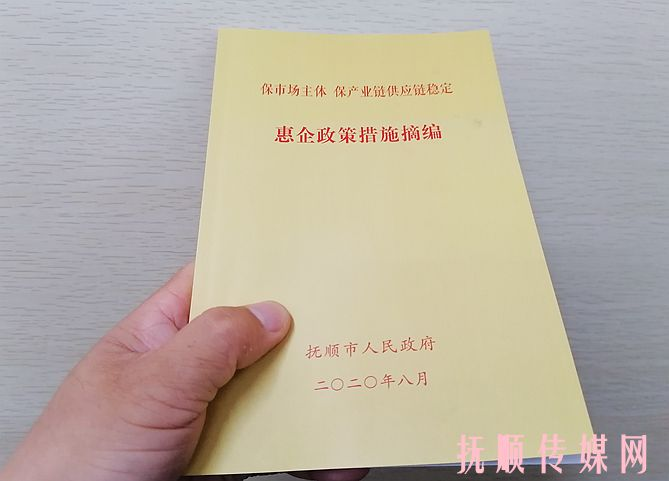 """抚顺市政府编印""""惠企政策"""" 送到基层听谏言"""