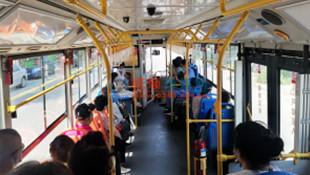 """抚顺""""1""""字头路码公交车开空调 让乘客坐车更舒服"""