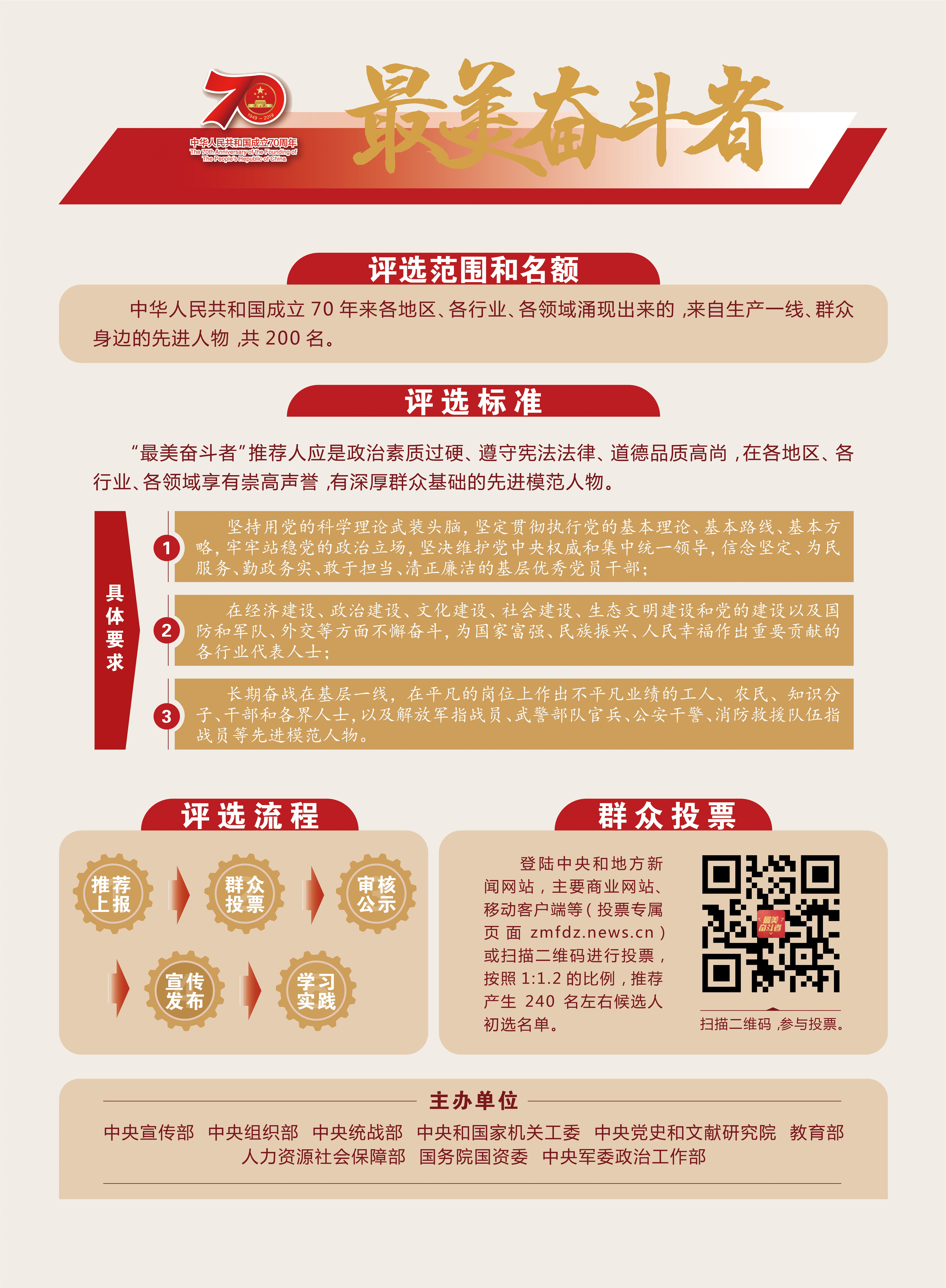 礼赞新中国 奋进新时代——最美奋斗者评选